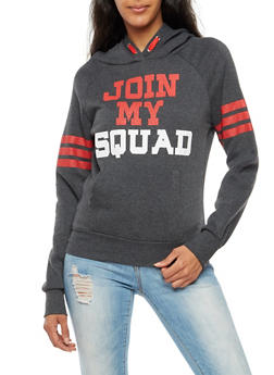 Join My Squad Graphic Hooded Sweatshirt - 3036038342511