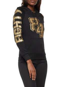 Eighty Four Graphic Foil Hoodie - 3036038342512