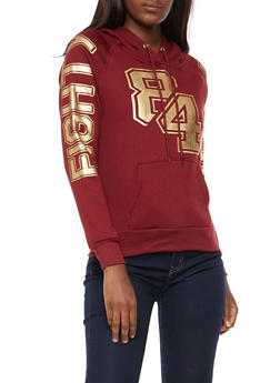 Eighty Four Graphic Foil Hooded Sweatshirt - 3036038342512