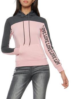 Love Graphic Hooded Sweatshirt - 3036038342521