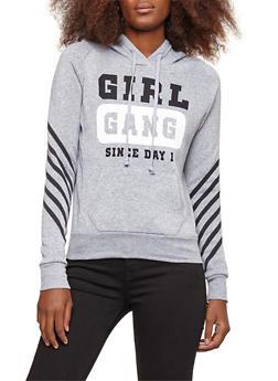Girl Gang Graphic Fleece Lined Sweatshirt - 3036038342523