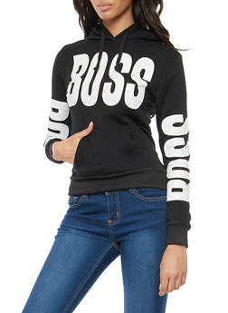 Fleece Boss Graphic Hooded Sweatshirt - 3036038342525