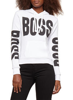 Fleece Boss Graphic Hooded Sweatshirt - 3036038342525