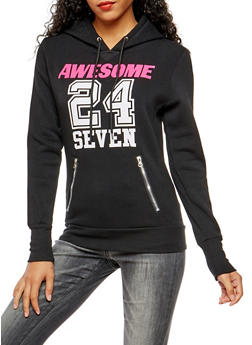 Awesome 24 Seven Graphic Hooded Sweatshirt - 3036038342526