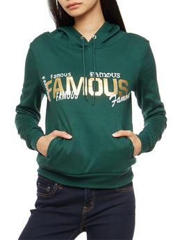 Famous Foil Graphic Sweatshirt - 3036038342529