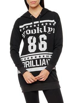 Brooklyn 86 Brilliant Graphic Long Sleeve Hooded Sweatshirt - 3036038342530
