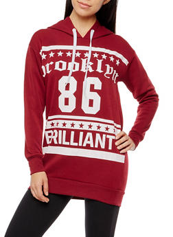 Brooklyn 86 Brilliant Graphic Hooded Sweatshirt - 3036038342530