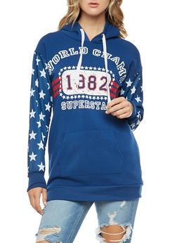 Superstar Graphic Long Hooded Sweatshirt - 3036038342532