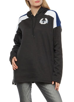 Fleece Graphic Hooded Tunic Sweatshirt - 3036038342540