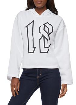 Lipstick Diamond Graphic Oversized Sweatshirt - WHITE - 3036038342546