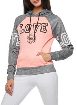 Love Graphic Hooded Sweatshirt - 3036038342557