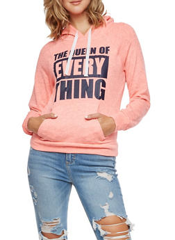 The Queen of Everything Graphic Hoodie - 3036038342558