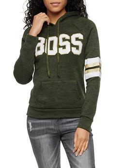 Boss Graphic Hooded Sweatshirt - 3036038342562