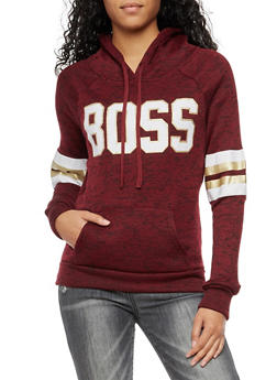Boss Graphic Hooded Sweatshirt - 3036038342562