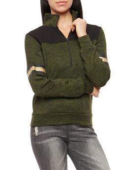 Marled Half Zip Love Sweatshirt - 3036038342565