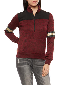 Marled Half Zip Love Sweatshirt - 3036038342565