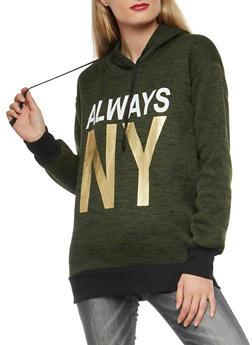 Always NY Foil Graphic Sweatshirt - 3036038342570