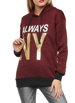 Always NY Foil Graphic Sweatshirt - 3036038342570