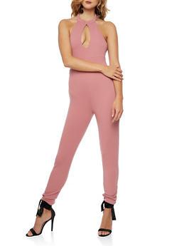 Soft Knit Open Back Jumpsuit - MESA ROSE - 3045058752823