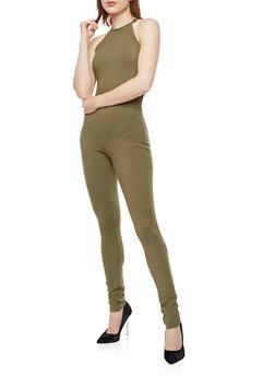 Soft Knit High Neck Jumpsuit - 3045060582250