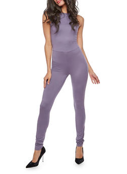 Soft Knit High Neck Jumpsuit - 3045060582250