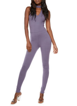 Soft Knit Back Zip Catsuit - 3045060583250