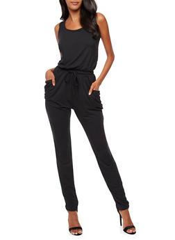 Sleeveless Caged Back Jumpsuit - 3045060584250