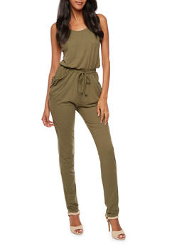 Sleeveless Caged Back Jumpsuit - 3045060584250