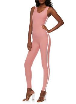 Varsity Stripe Catsuit - 3045061632470