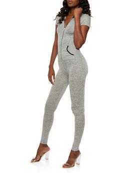 Hooded Short Sleeve Jumpsuit - 3045061632473