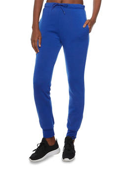 Slim Joggers with Printed Waistband - 3056038341711