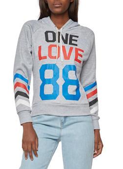 One Love 88 Graphic Hooded Sweatshirt - 3056038342717