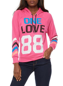 One Love 88 Graphic Hooded Sweatshirt - 3056038342717