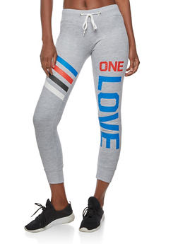 One Love Graphic Sweatpants - 3056038342718