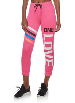 One Love Graphic Joggers - 3056038342718