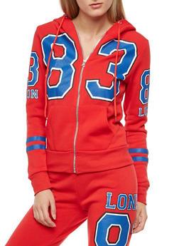 83 London Graphic Fleece Hoodie - 3056038342739
