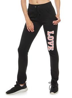 Love Graphic Sweatpants - 3056038342742