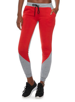 Color Block Joggers in Slim Fit - 3056038346401