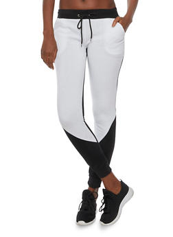Color Block Joggers in Slim Fit - BLACK/WHITE - 3056038346401