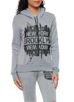 Hoodie with Brooklyn New York Graphic - 3056038347122