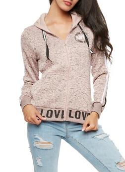Love Zip Up Hooded Sweatshirt - 3056051061038