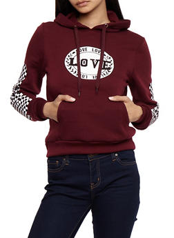 Love Graphic Hooded Sweatshirt - 3056051061350