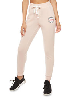 Lace Up Love Graphic Sweatpants - 3056051062600