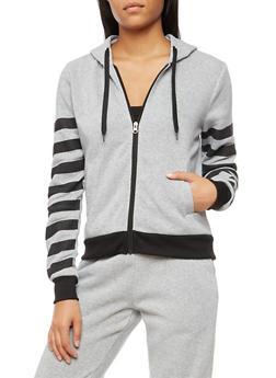 Long Sleeve Unedited Graphic Zip Up Hoodie - 3056051066135