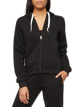 Long Sleeve Unique Graphic Zip Up Hoodie - 3056051066145