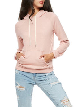 Soft Terry Knit Hoodie - 3056054266584