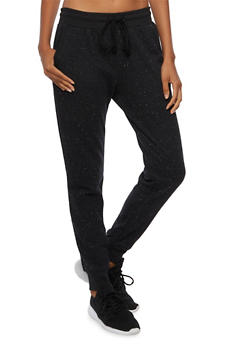 Drawstring Joggers with Contrast Trim - 3056054266800