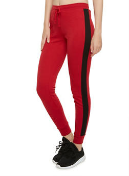 Joggers with Contrasting Side Stripes - 3056054266806