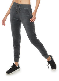 Velour Joggers - CHARCOAL - 3056054266890