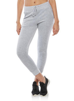 Velour Joggers - HEATHER - 3056054266890